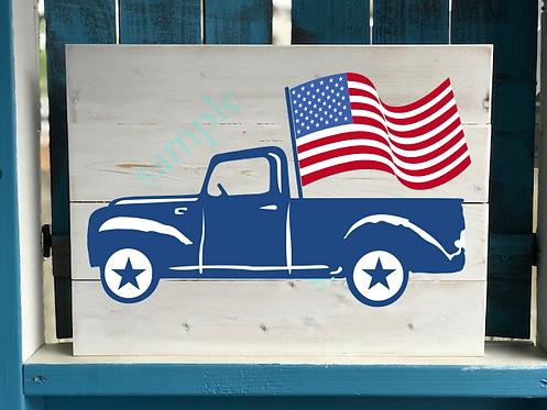 Patriotic Truck 1 - 16x20