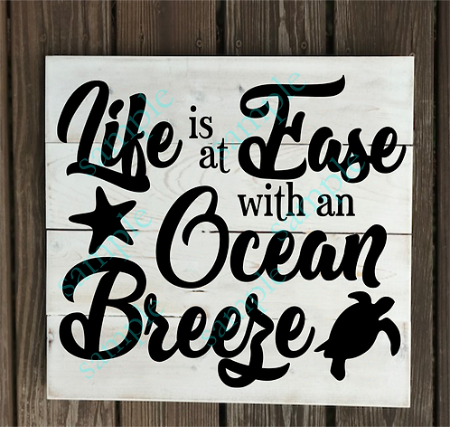 Private - Life is at Ease - 14x14