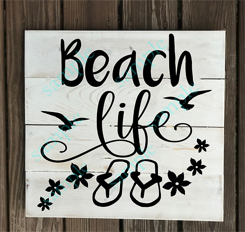 Private - Beach Life - 14x14