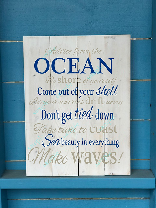 Advice from the Ocean - Mixed Font - 16x20