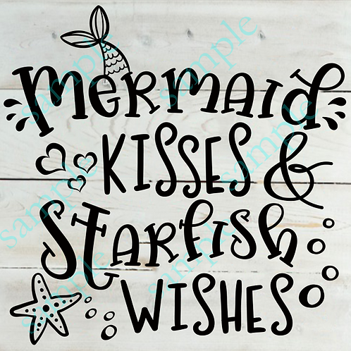 B2S0817 - Mermaid Kisses - 14x14