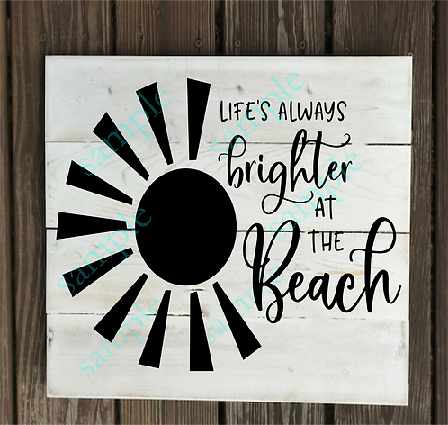 B2S0817 - Life's Brighter at the Beach - 14x14