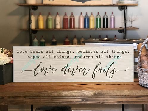 Love Never Fails - 12x36