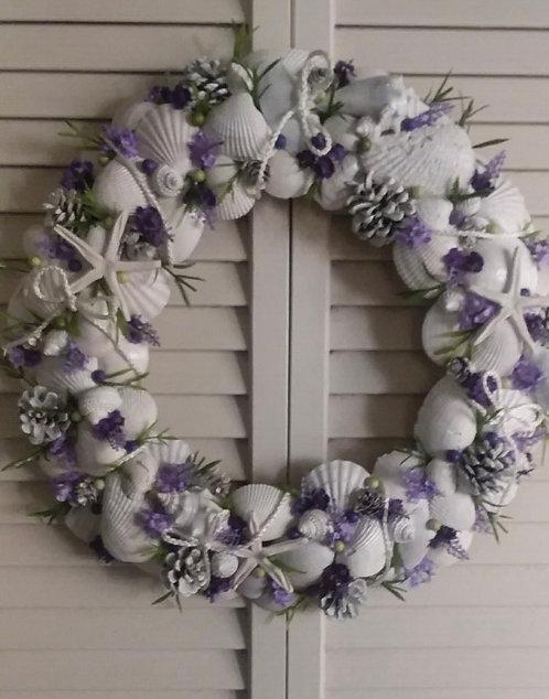 Private Coastal Seashell Wreath