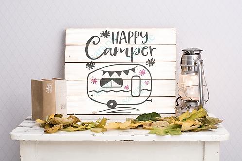 Private - Happy Camper - 14x14