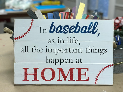All Important Things Happen at Home 12x16