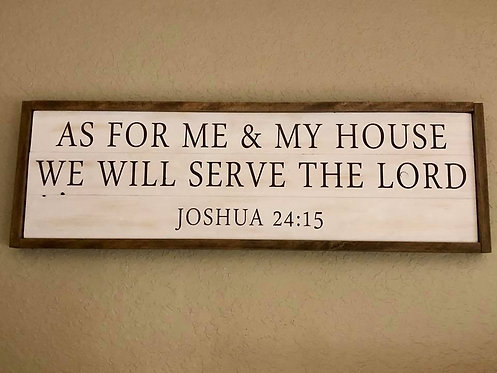 Private - As for me and my house - 12x36