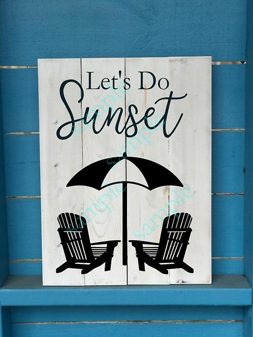 Let's Do Sunset - Umbrella 16x20