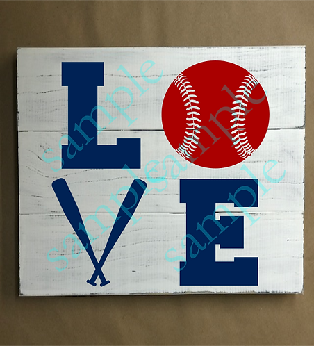 Private - Baseball Love Square - 14x14