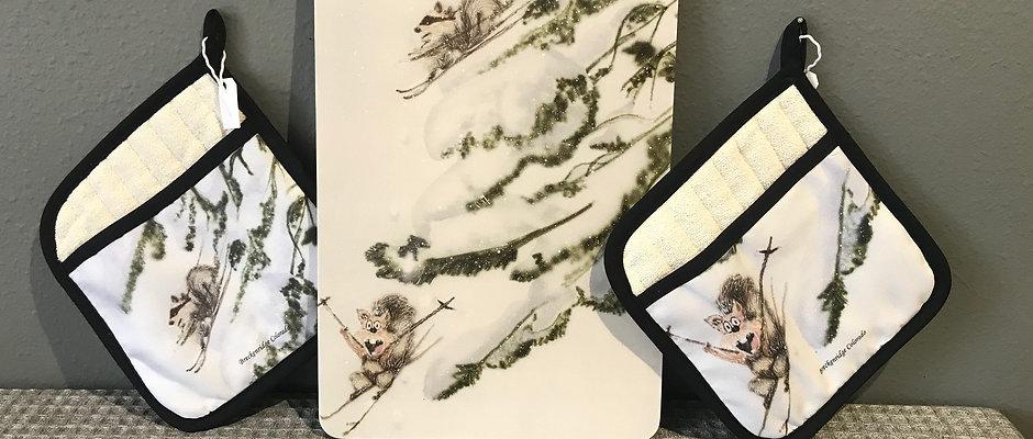 Squirrel Snow Day Kitchen Gift Set
