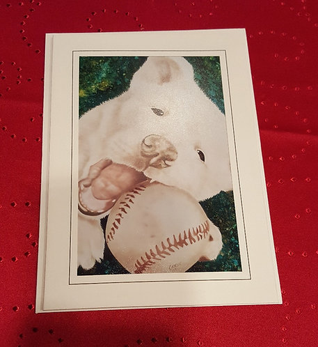 """Can We Go Play 5""""x7"""" Greeting Card"""