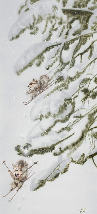 Squirrel Snow Day