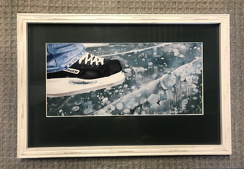 Skating the River Framed Print