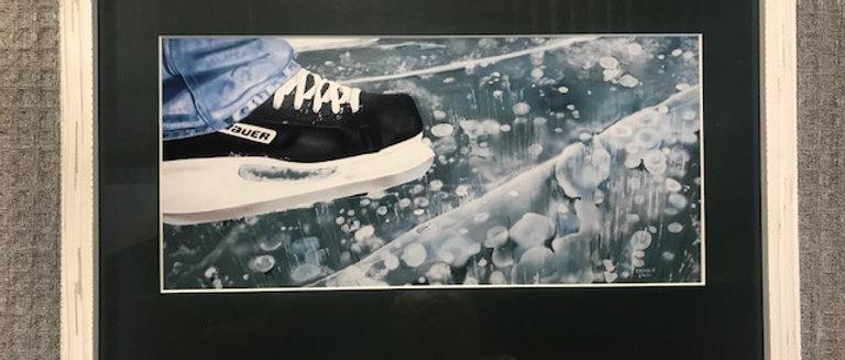 Skating the River Framed Print