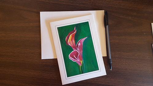 "Calla Lilies 1-s 5""x7"" Greeting Card"