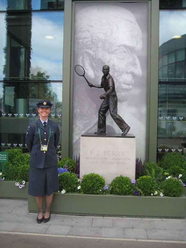 Naomi on stewarding duties at Wimbledon