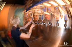 Katie pouring