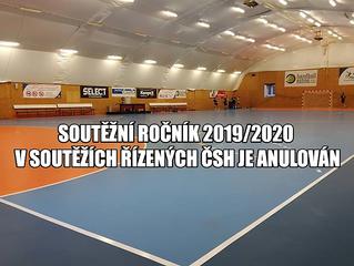 Soutěžní ročník 2019/2020 v soutěžích řízených ČSH je anulován