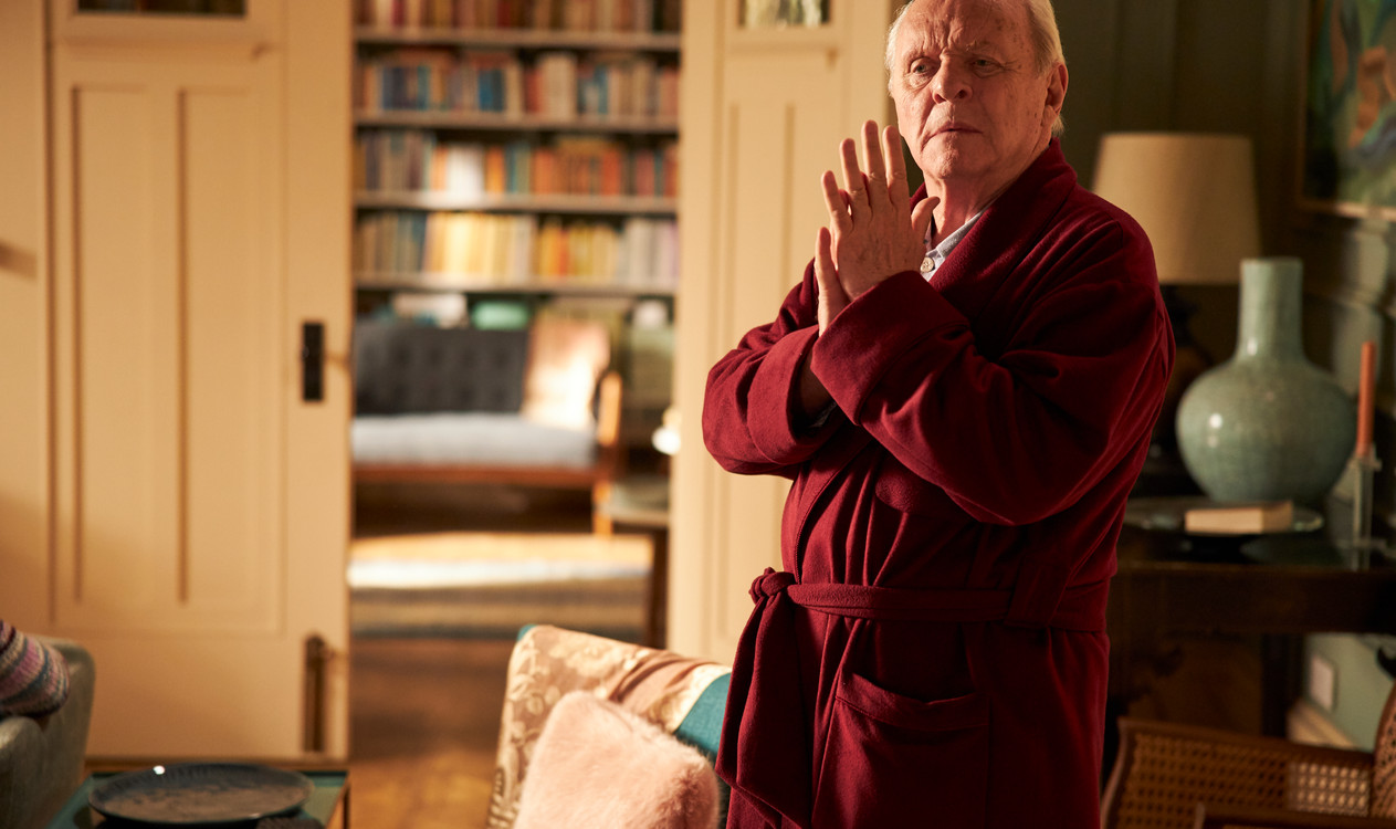 anthony hopkins plays anthony . The Father . Directed by Florian Zeller . Staring Anthony Hopkins, Olivia Colman, Imogen Poots, Rufus Sewell, Olivia Williams, Mark Gattis