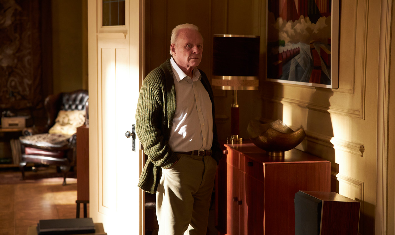 The Father . Directed by Florian Zeller . Staring Anthony Hopkins, Olivia Colman, Imogen Poots, Rufus Sewell, Olivia Williams, Mark Gattis