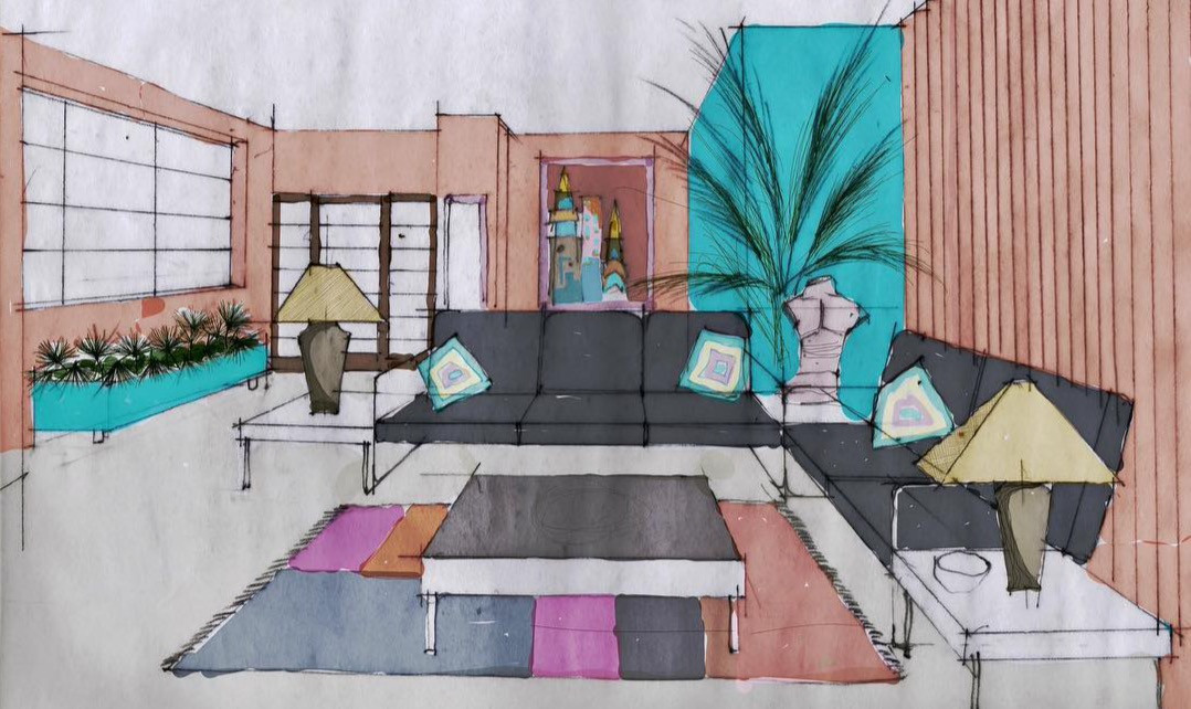 sketch, Kenny's Living Room