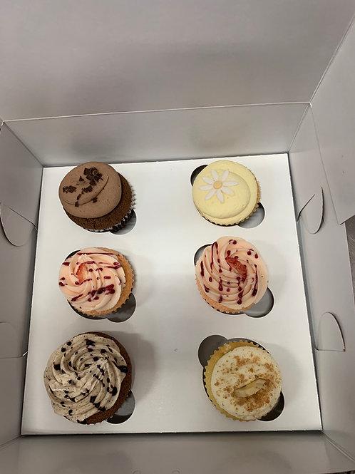 Half Dozen Full Size Cupcakes