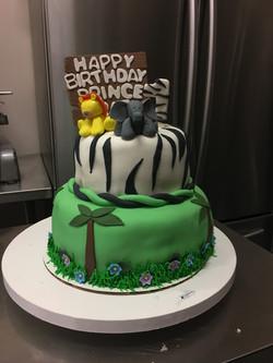 Large and medium custom cake