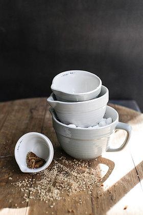 Stoneware Batter Bowl Shaped Measuring Cups