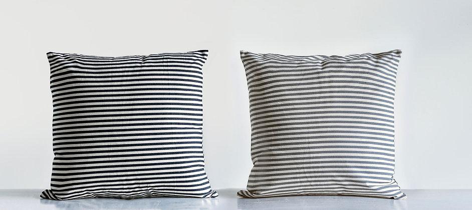 Striped Cotton Pillow
