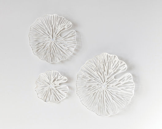 Handmade White Coral Shaped Paper & Metal Wall Décor