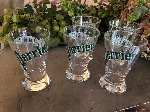 Lot de 5 verres Perrier