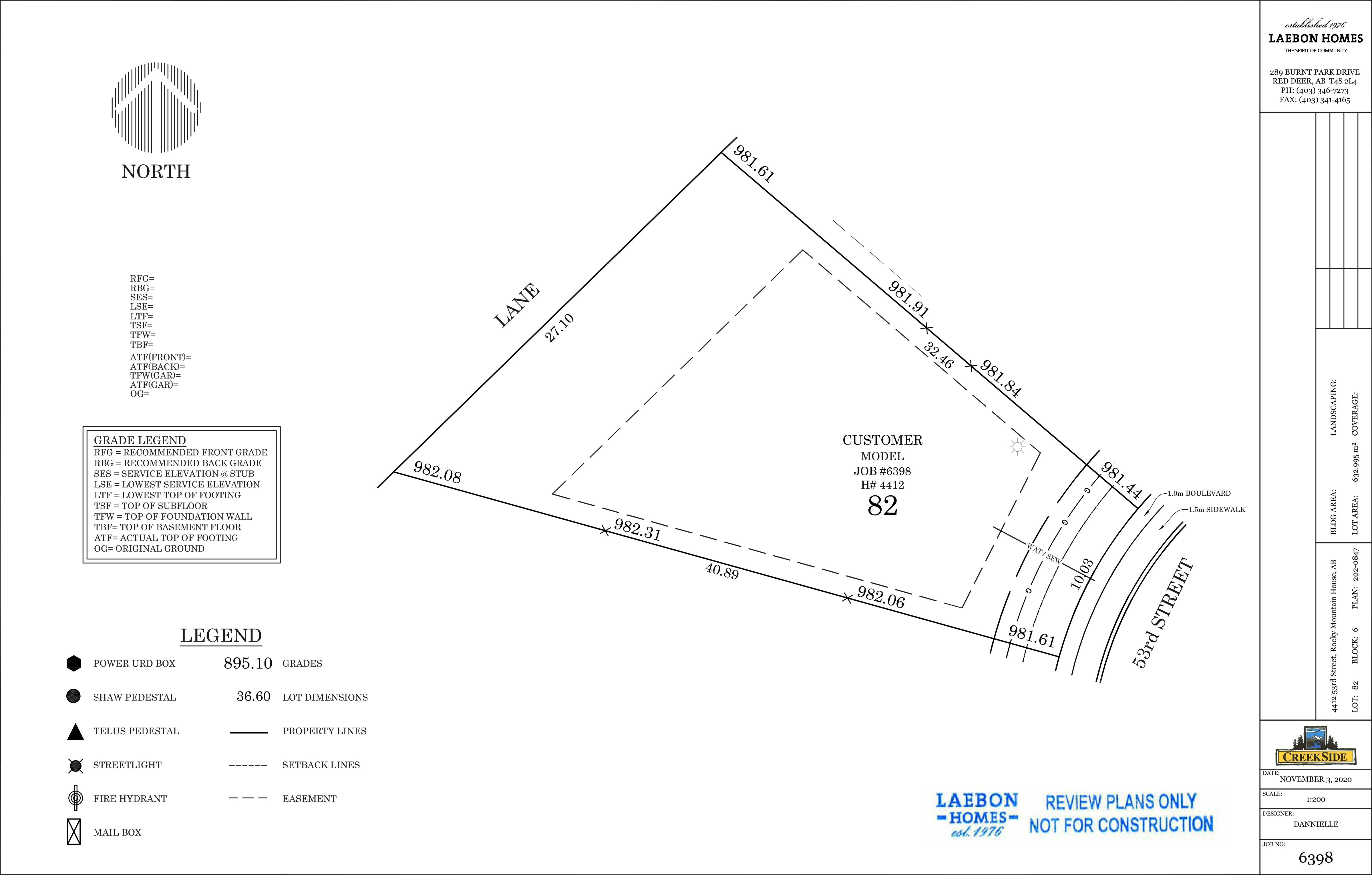 4412 53 Street Site Plan