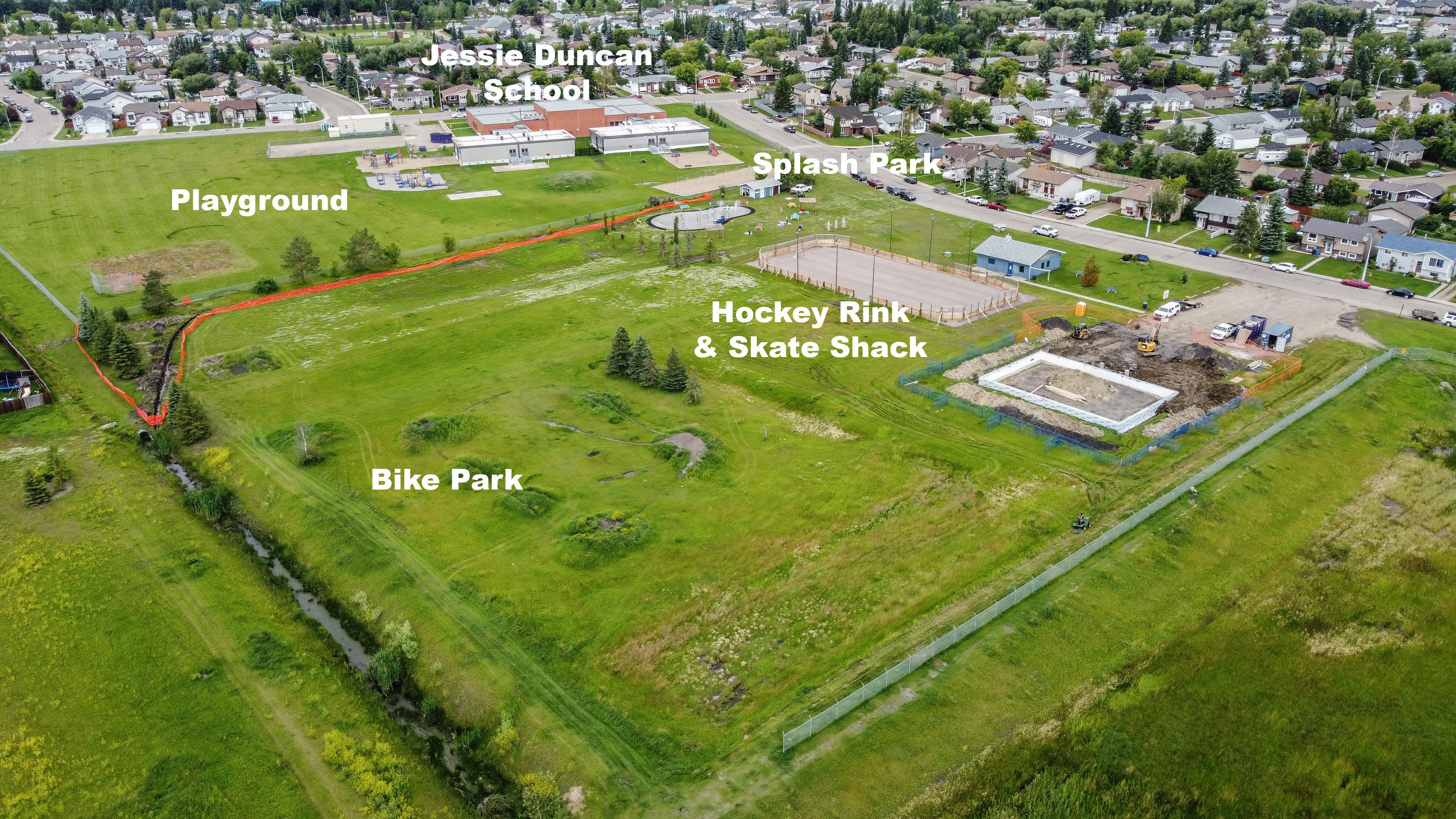 school playground splash park