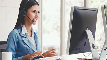 Customer support agent or call center wi