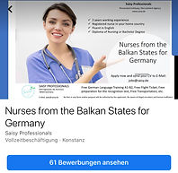 Pflegekräfte aus dem Balkan