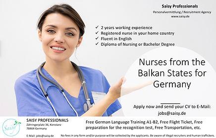 Pflegekräfte von Balkan