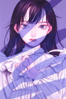 悪戯書きⅣ, Acrylic on canvas, 273x410mm, 202