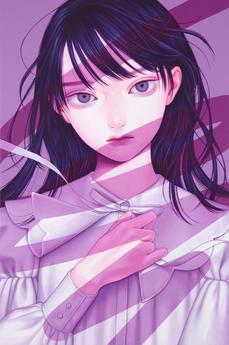 悪戯書きⅢ, Acrylic on canvas, 273x410mm, 202