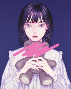 塗りつぶしⅢ, Acrylic on canvas, 406x508mm, 20