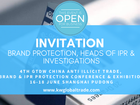 March News: GTDW China Anti Illicit Trade, Brand & IPR Protection Conference & Expo