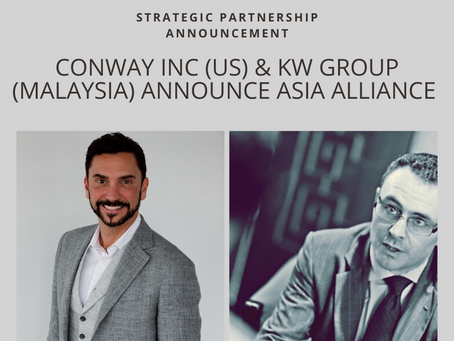 Economic development leaders Conway Inc announces major partnership with KW Group in Asia
