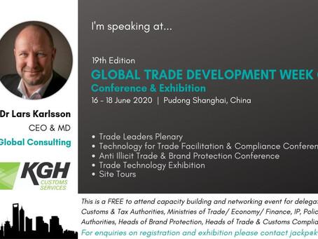 Lars Karlsson, KGH Customs Services joins leading speakers at GTDW China 2020 June Shanghai