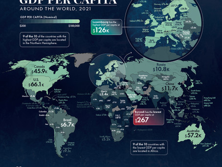 Mapped: GDP per Capita Worldwide
