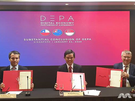 'Substantial conclusion' between Singapore, New Zealand & Chile on digital economy partnership