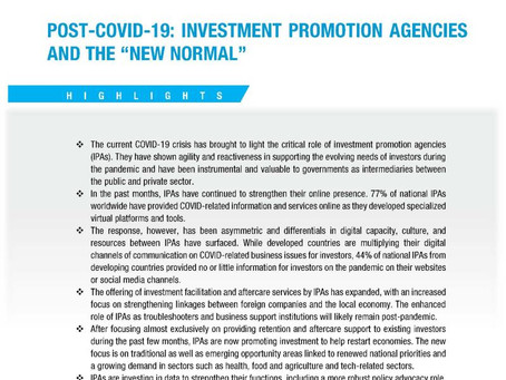 UNCTAD Highlights Critical Role Of Investment Promotion Agencies
