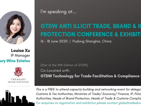 Welcome Louisa Xu Head Brand & IPR Protection Treasury Wines GTDW Anti Illicit Trade Conference June