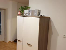 Umzug Küche, Einschneiden neuer Arbeitsp