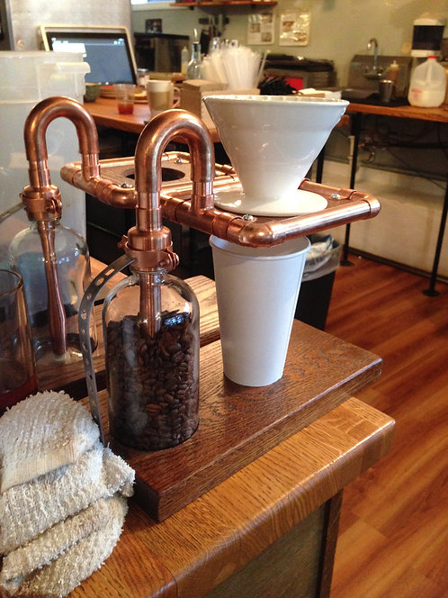 Coffee pourover stand
