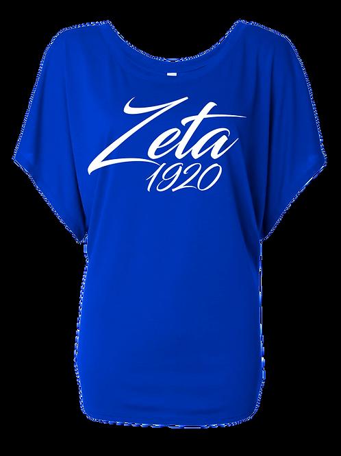 ZPB Ladies' Flowy Draped Sleeve Dolman T‑Shirt