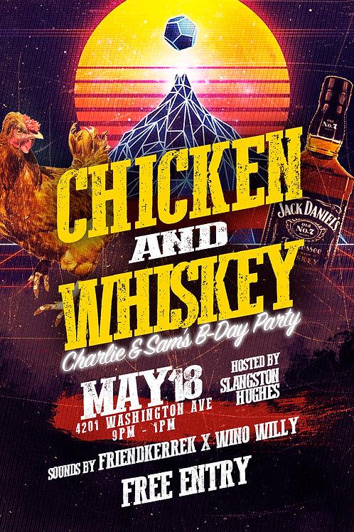 Chicken & Whiskey Flyer Template